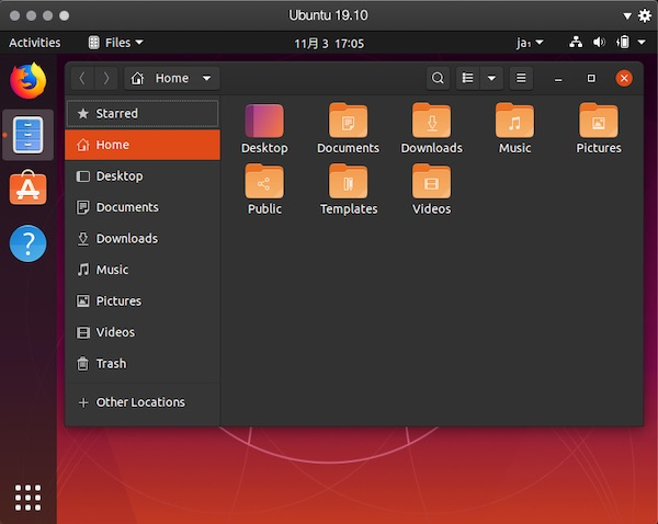 「Ubuntu 19.10」on「Parallels Desktop」