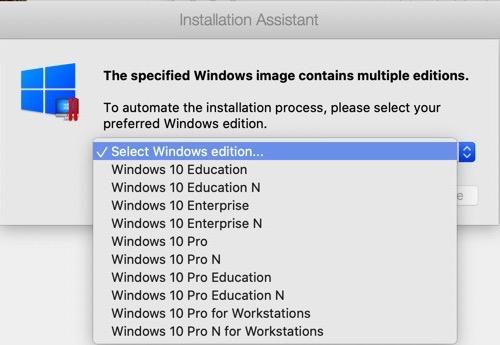 Windowsのエディションを選択