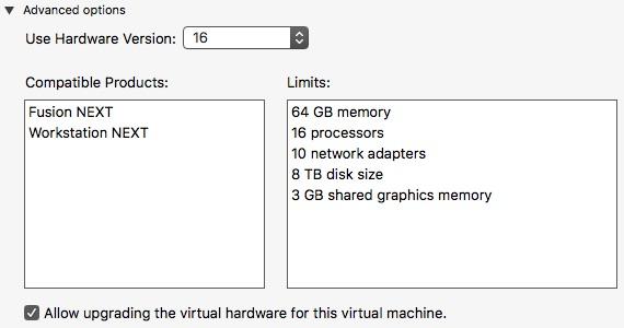 仮想ハードウェア 16